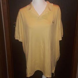 •NWOT• Polo Ralph Lauren Mens Yellow Golf Polo